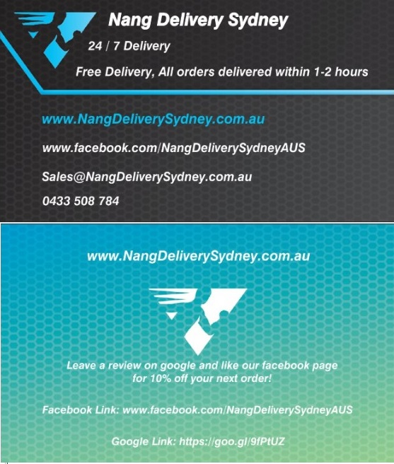 Nang Delivery Sydney (Business Cards)